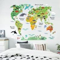World Map Wall Sticker for Kids-Watermelon Warehouse