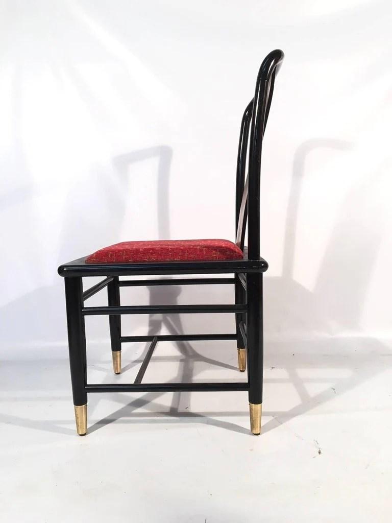 henredon asian dining chairs red leather room chinoiserie elan koa wood marjorie