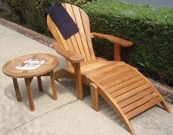 Adirondack Teak Chairs With Ottoman  Free shipping