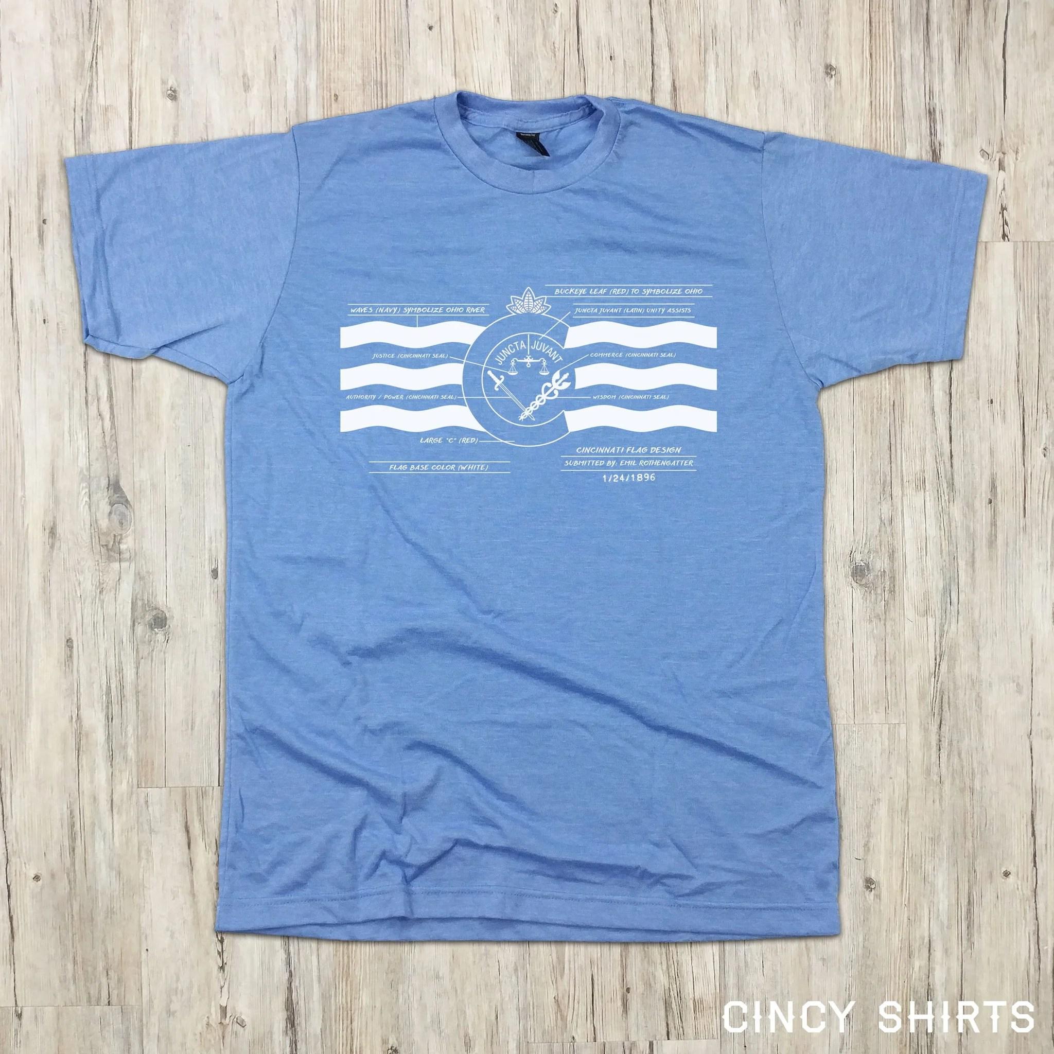 hight resolution of cincy flag diagram t shirt
