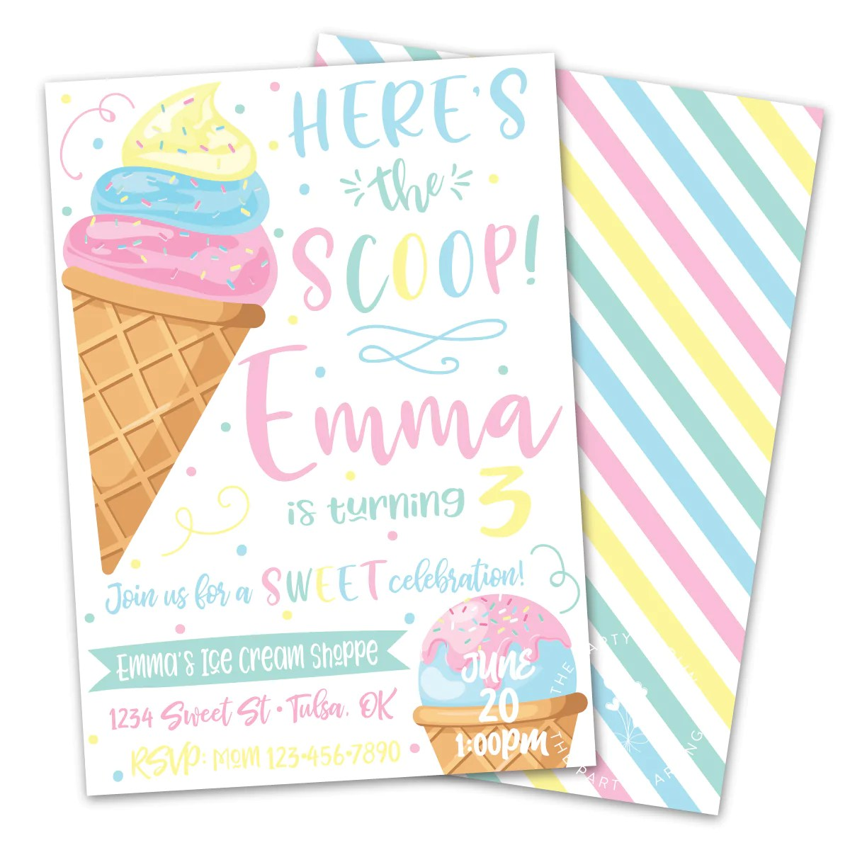 throw a simple ice cream birthday party