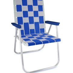 Webbing For Aluminum Folding Chairs Chair Steel Design Lawn Usa Blue And White