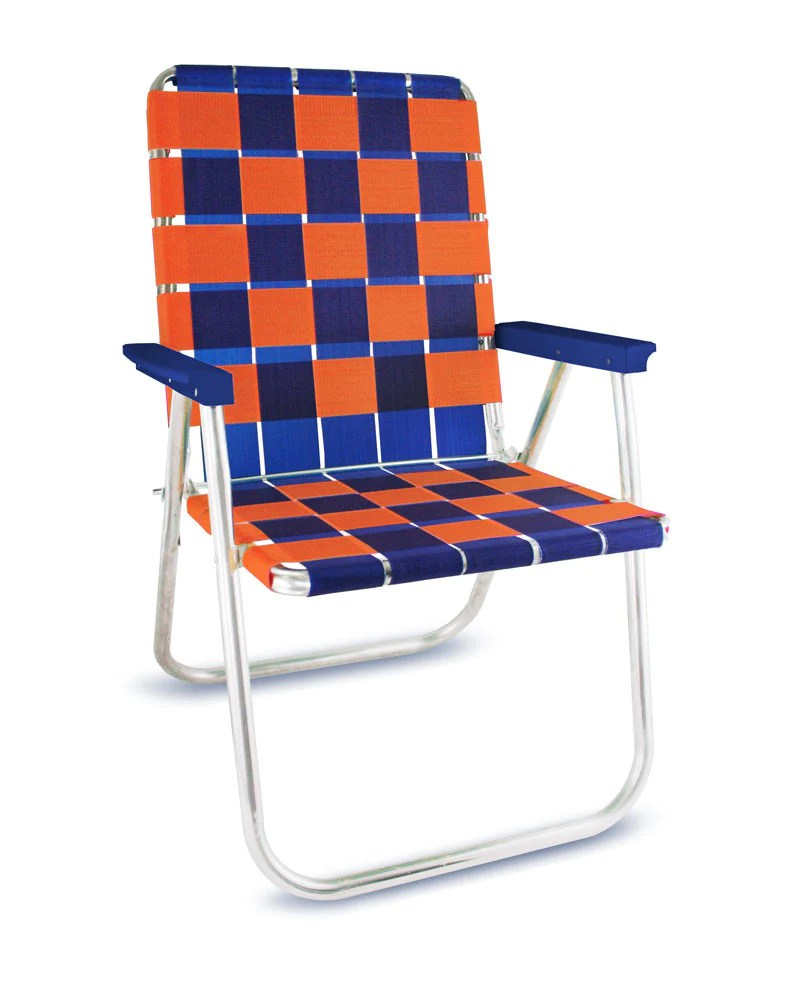 lightweight lawn chairs beige accent with arms chair usa blue orange folding aluminum webbing classic deluxe