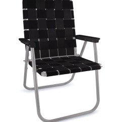 Fold Out Lawn Chair Folding Chairs Lowes Midnight Aluminum Webbing Deluxe