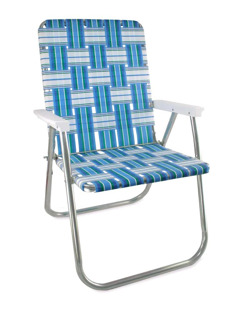 folding chair outdoor beauty salon chairs for sale lawn usa making quality aluminum sea island classic with white arms