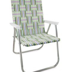 Lawn Chairs Usa Posture Desk Stool Chair Spring Fling Folding Aluminum Webbing Classic Beach Deluxe