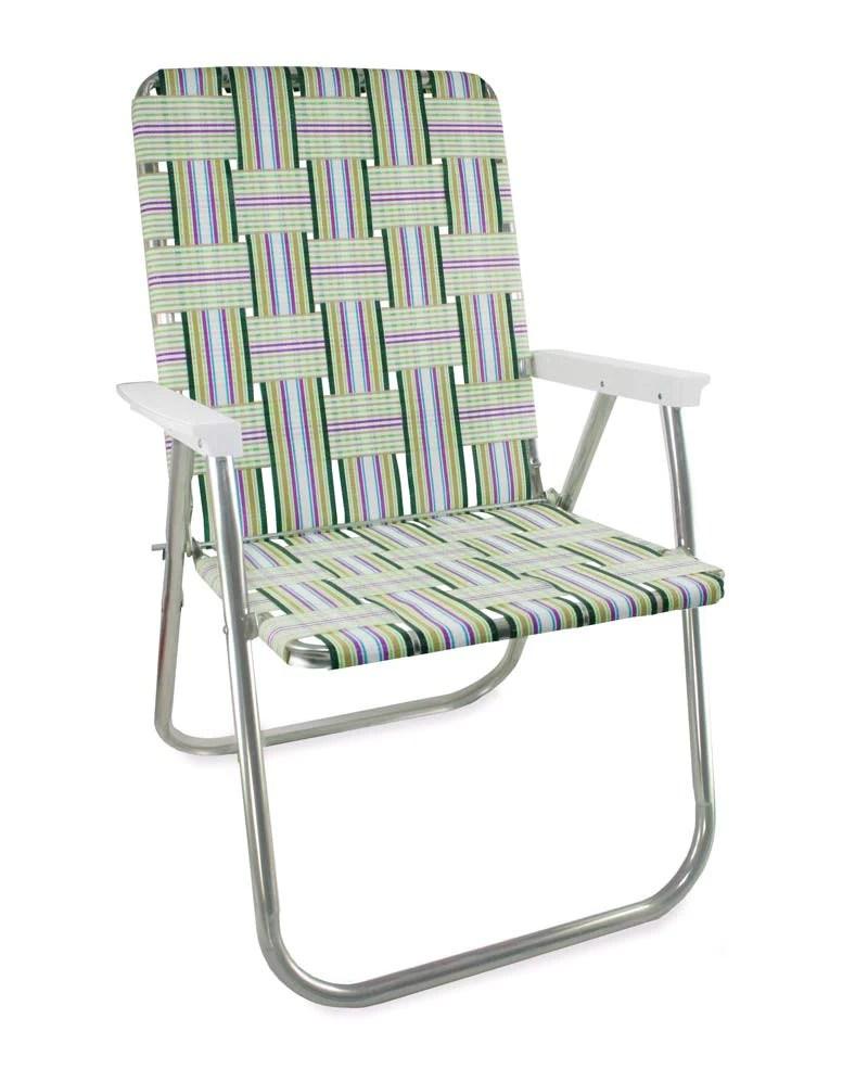 Lawn Chair USA  Spring Fling Folding Aluminum Webbing