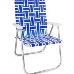 Vintage Lawn Chair Baby Highchair 3 In 1 Usa Making Quality Folding Aluminum Chairs Blue And White Stripe Classic