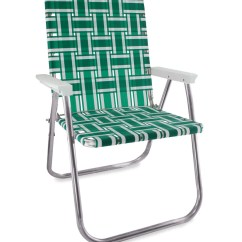 Blue Green Chair Mobile Chairs For The Elderly And White Stripe Folding Aluminum Webbing Lawn Deluxe