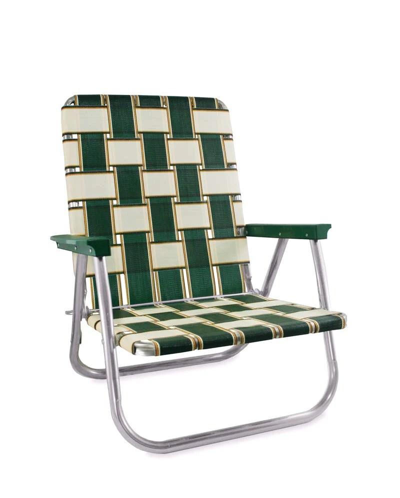 beach lawn chairs how to make chair sashes usa charleston folding aluminum webbing reader high