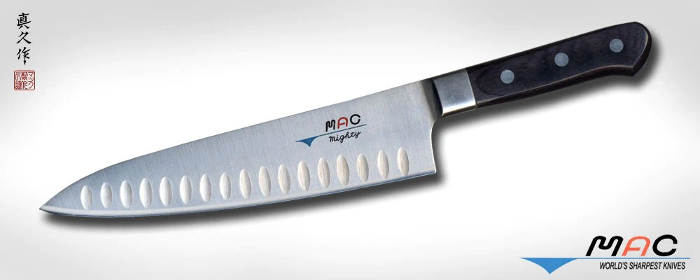 professional kitchen knives custom made cabinets series 8 chef s knife with dimples mth 80 mac