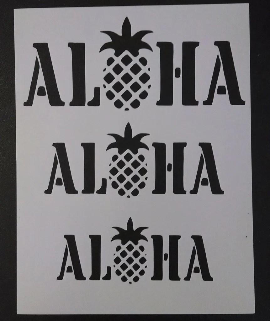 Aloha Pineapple Stencil