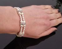 Pearl Bridesmaids Bracelet & Earring Set, Meredith Mini ...