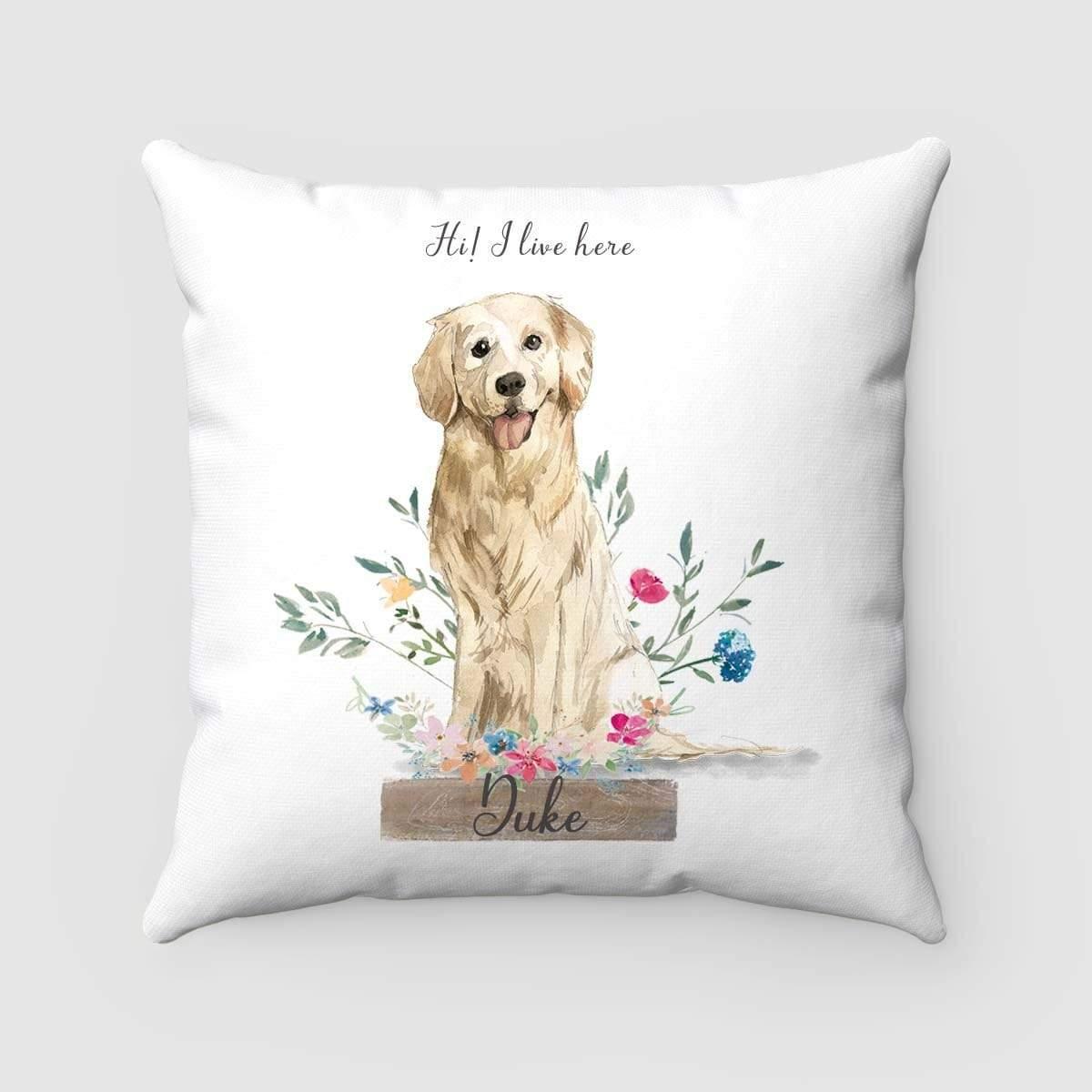 custom dog pillow