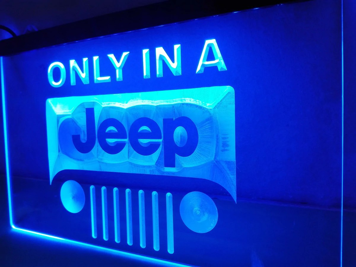 Jeep In Led Sign Perfect Room Cave