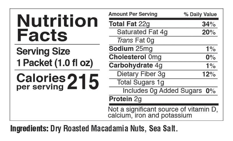 FBOMB Macadamia Nut Butter with Sea Salt (10-count) – DropAnFBomb.com