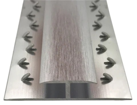 chrome and silver carpet door bars