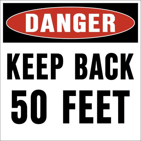 keep back signs western