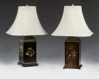 Antique Reproduction Table & Floor Lamps