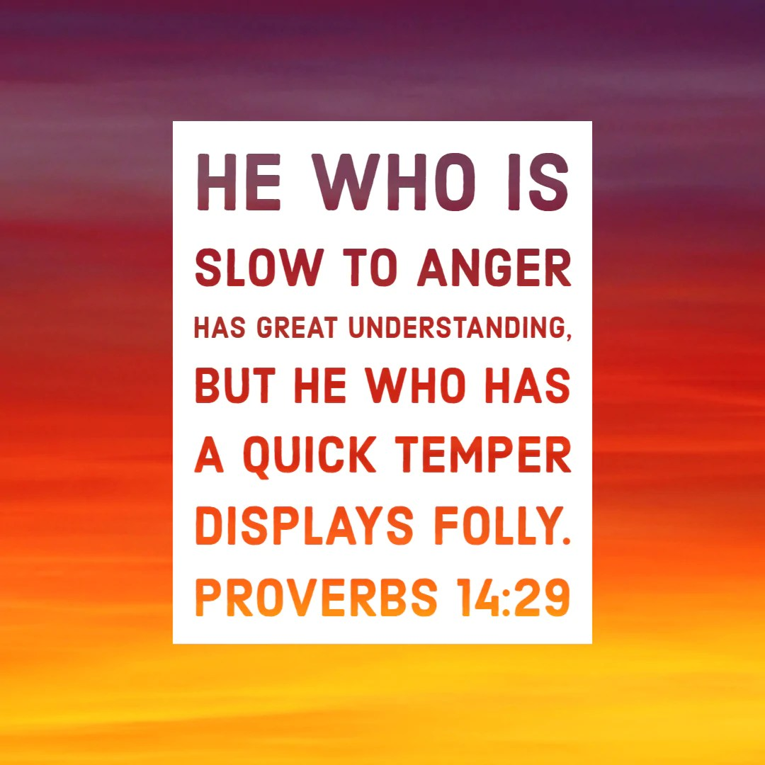 proverbs 14 29 slow
