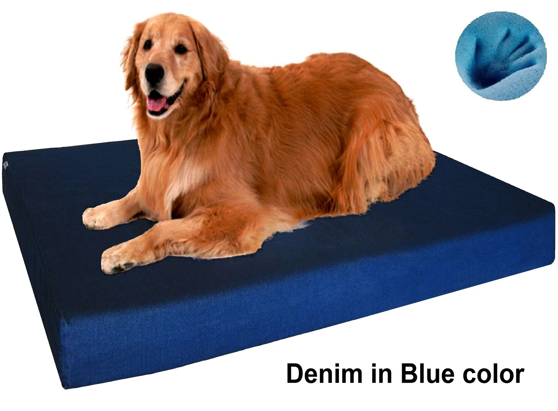 orthopedic premium memory foam pad dog bed for small to extra large pet 7 sizes in 10 colors