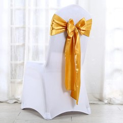 Party Decorations Chair Covers Dining Table 10pcs Cover Sashes Fake Silk Wedding Sash Bow 16 Colors