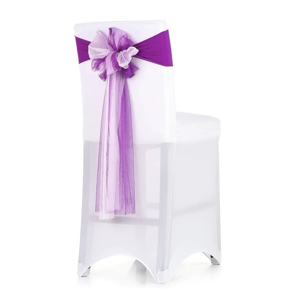 sashes for wedding chair covers futon bed target 10pcs banquet organza cover bows eve costbuys