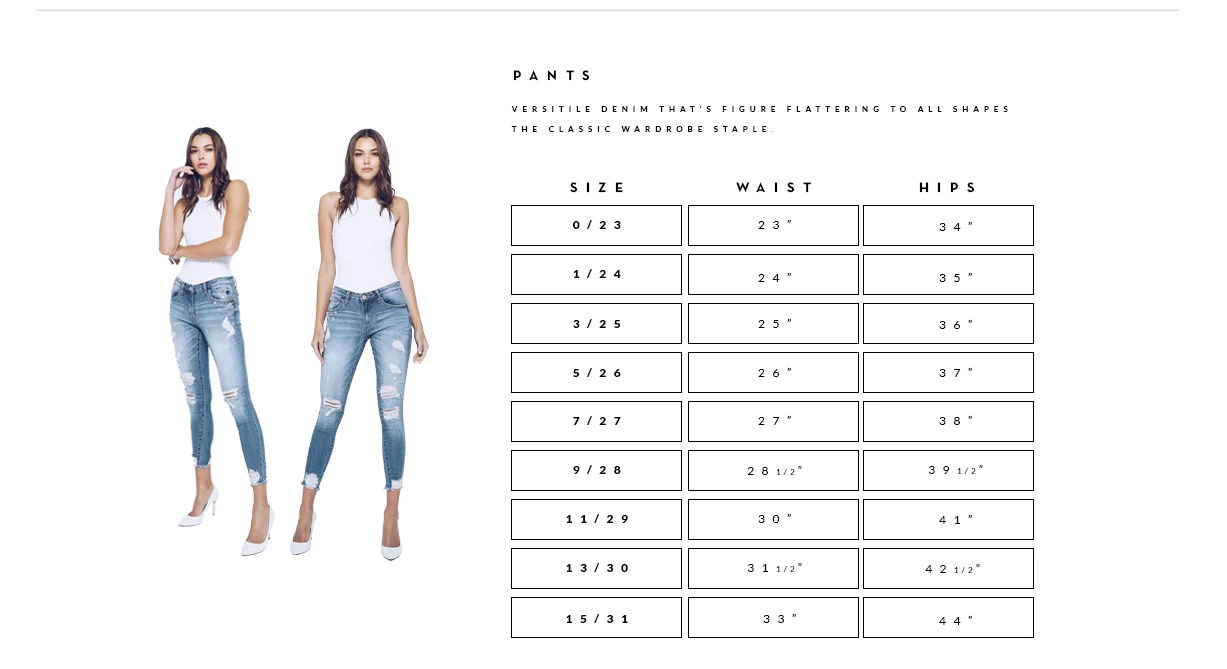 Size chart pants plus jeans shorts women   clothes also rh kancanusa