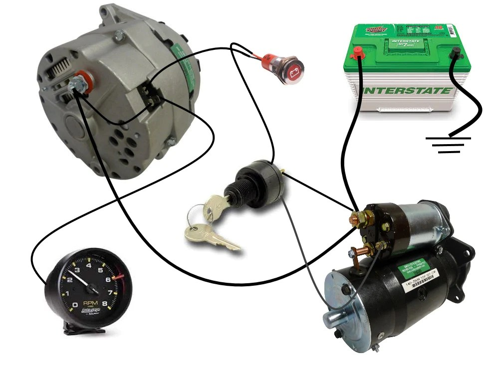 Common Delco SI Series Alternator Wiring Diagram | Smith