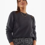 All About Eve Clothing ALL ABOUT EVE WASHED CREW - CHARCOAL
