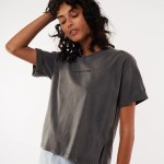 All About Eve Clothing ALL ABOUT EVE WASHED TEE - FADED BLACK