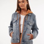 All About Eve Clothing LAYERED DENIM JACKET - MULTICOLOURED