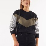 All About Eve Clothing ZEBRA SHIFT CREW - MULTICOLOURED