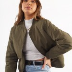 All About Eve Clothing CLASSIC BOMBER - KHAKI