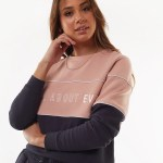 All About Eve Clothing FRONTED CREW - CHARCOAL