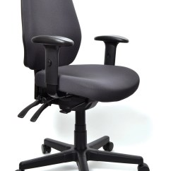 Ergonomic Chair Data Grey Fabric Aura Ergo 43 Task With Arms Ebay