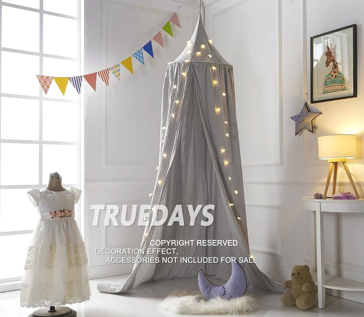 dome princess bed canopy bed curtain mosquito net for children room decoration grey