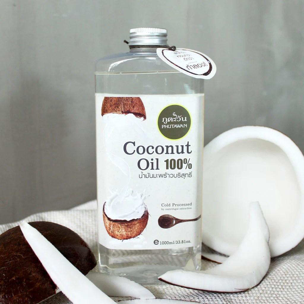 Phutawan 100% Pure Premium Coconut Oil Cold Pressed-100ml/300ml/500ml/1000m – OnlineSkinBar.com