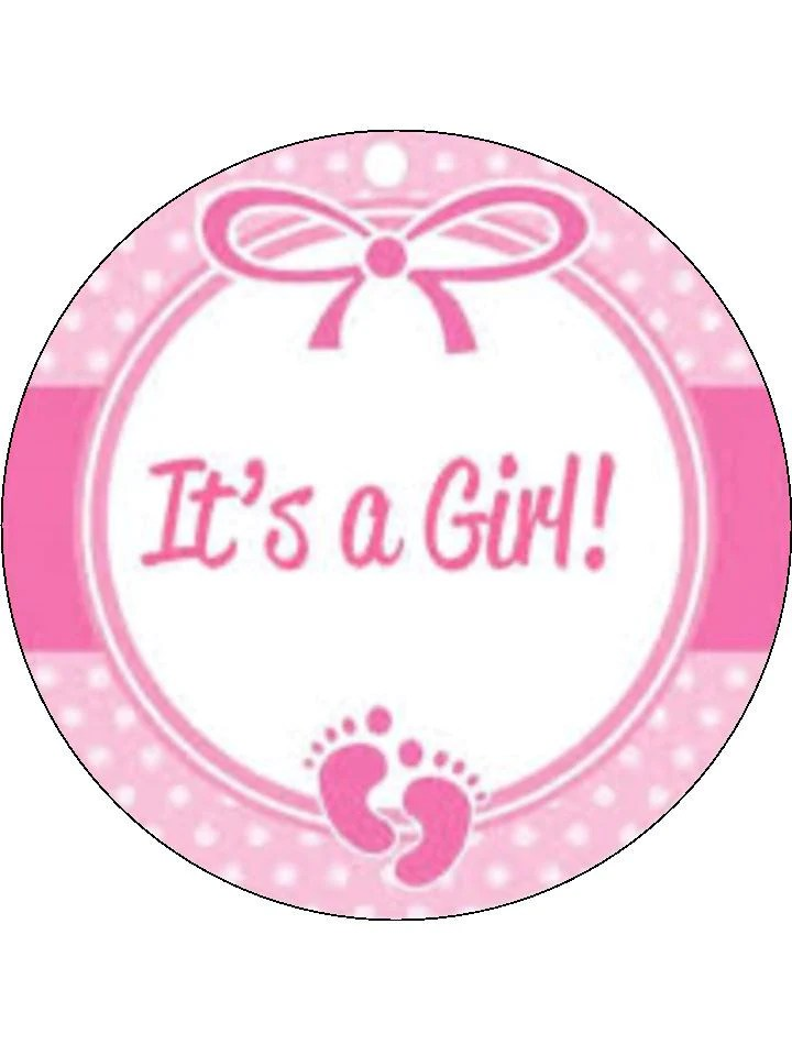 Its A Girl Edible Cake Amp Cupcake Toppers Incredible