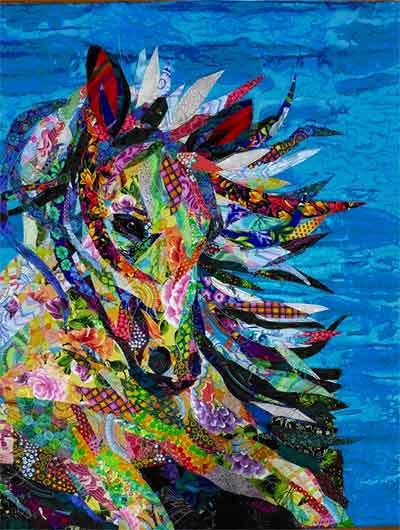Animal Collage : animal, collage, Fabric, Collage, Animals, Phyllis, Cullen, Christine, Shane
