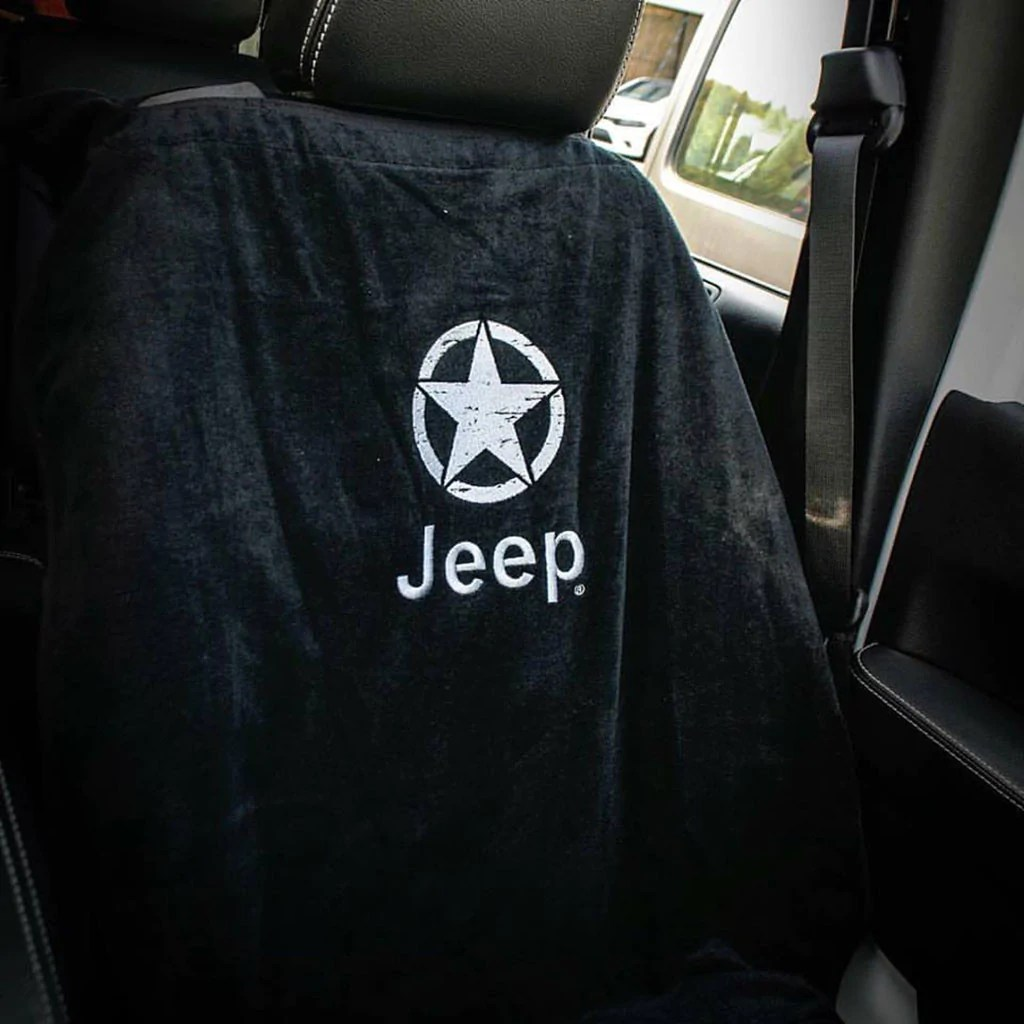 Jeep Seat Towel Black With Oscar Mike Logo World