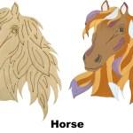 Horse Diy Pop Art Paint Kit Earnhardt Collection