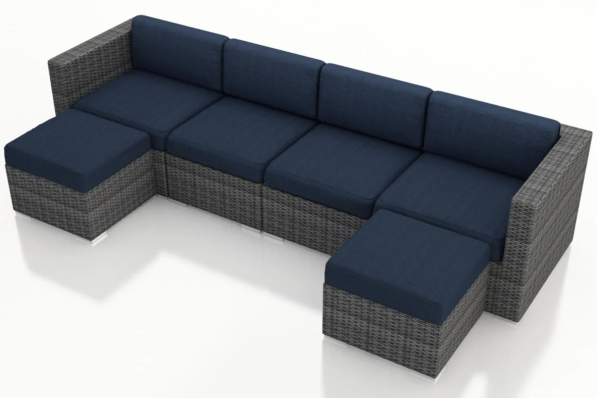 district 6 pc double chaise sectional