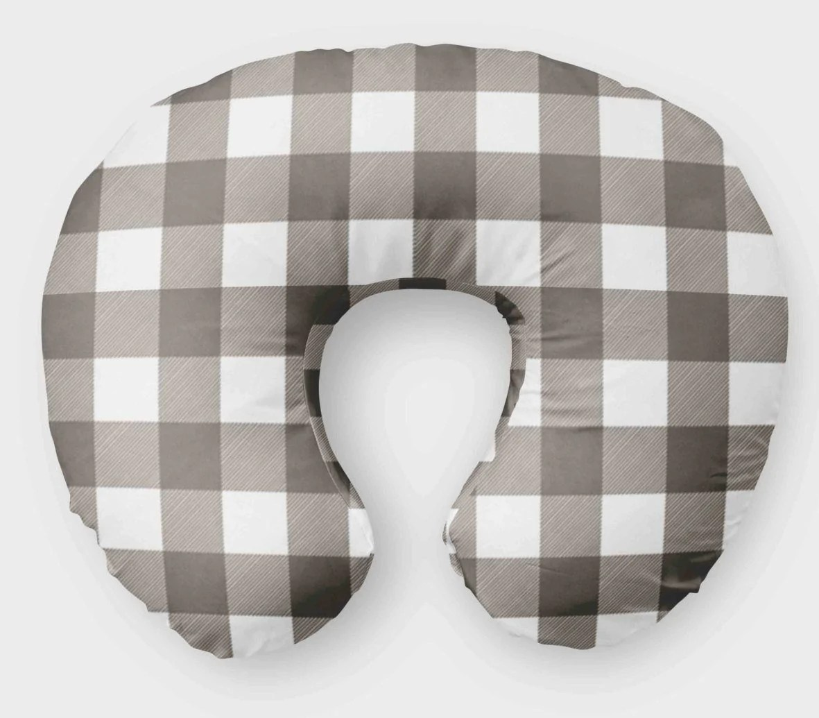 Boppy Cover For Boys Grey Plaid Nursing Pillow Cover Dream Evergreen