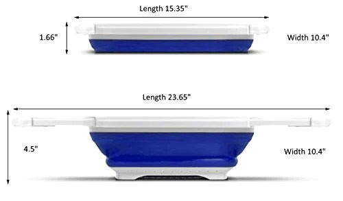 procizion kitchen collapsible colander over the sink strainer expanding mesh with extending non slip handles blue