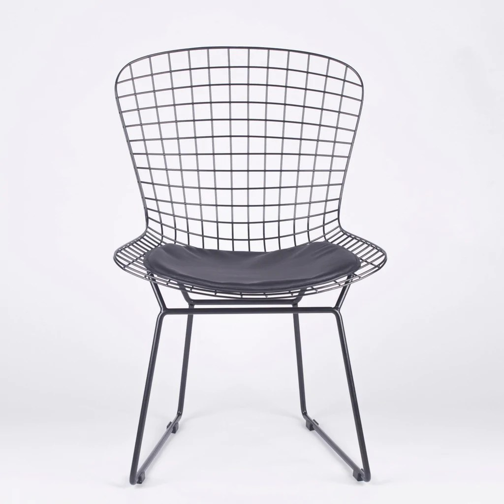 bertoia style chair white target armless accent  bothy blue
