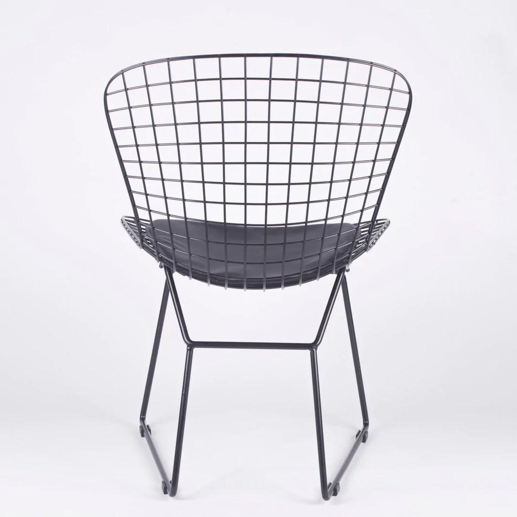 bertoia style chair white that turns into a twin bed  bothy blue