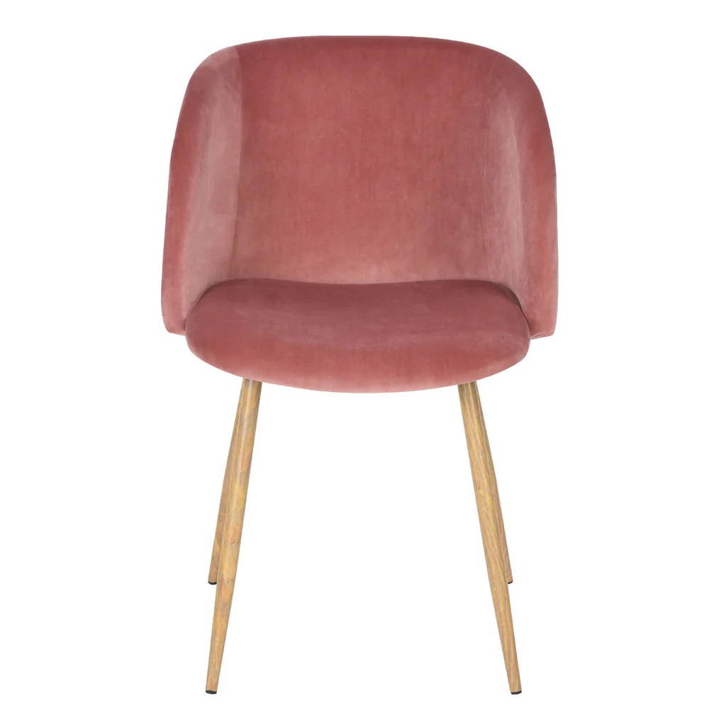 velvet armchair pink fisher price zen collection high chair mid century rose  bothy blue