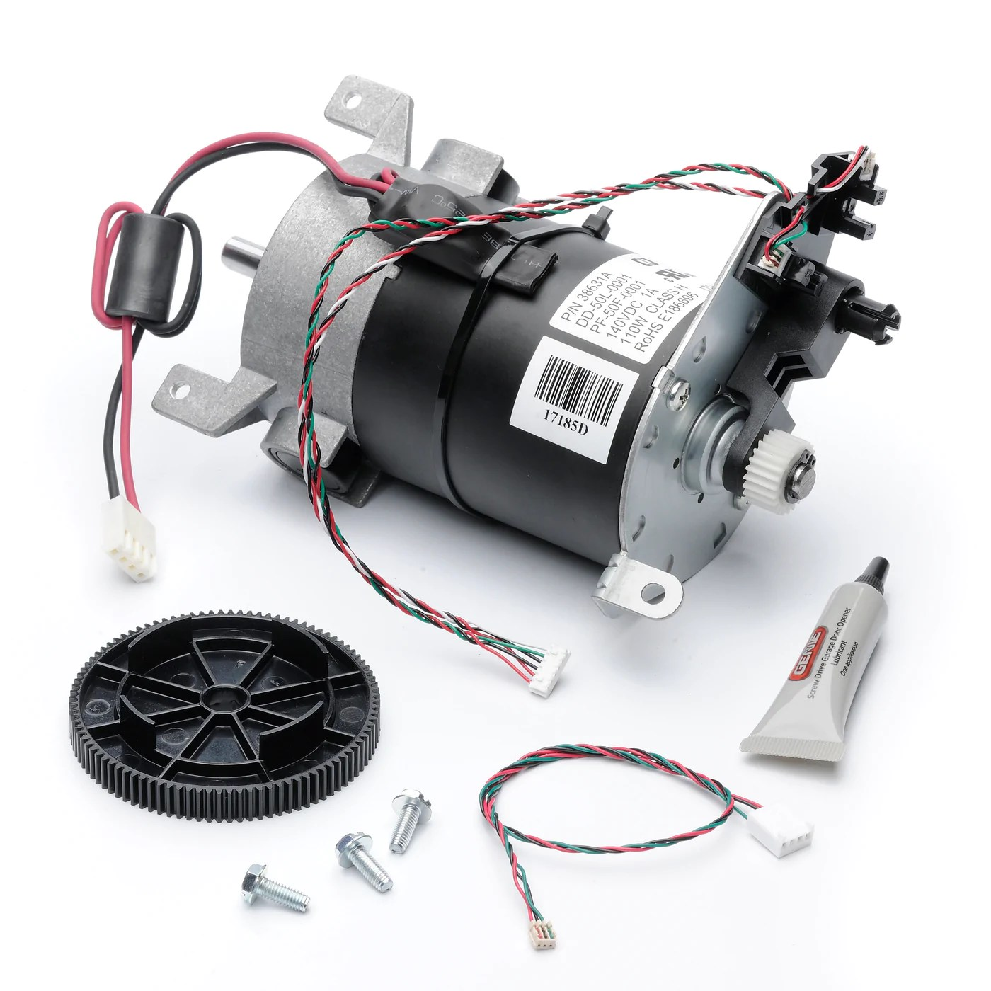 small resolution of genie garage door opener motor assembly dual encoder dc screw drive replacement part