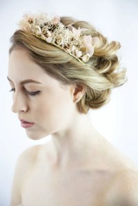 Bridal Hair Flower Wreath  Sissily